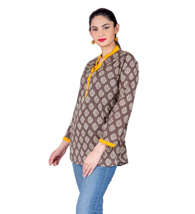 buy Block Printed Ethnic Top
