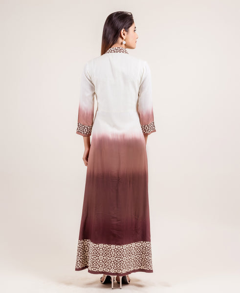 buy quarter sleeves mandarin collar indo western gowns for women online