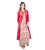 White and Red Embroidered Indo Western Dress with Chanderi Jacket