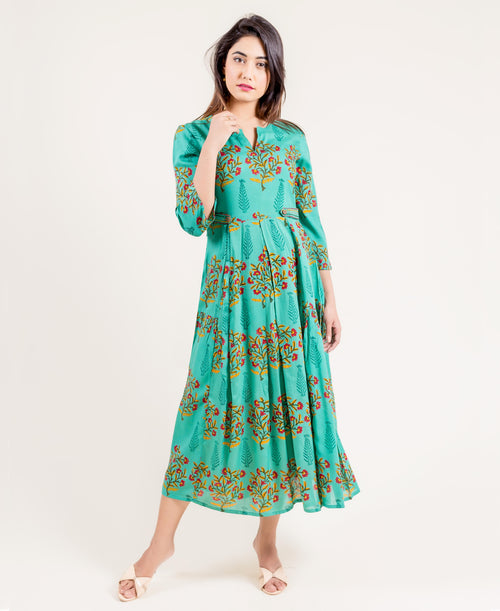 Embroidered Multi Colored Rayon Indo Western Dress
