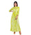 Classic Cut Lime Indo Western Dress with Front Tassels and Buttons