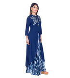 embroidered indo western dress online