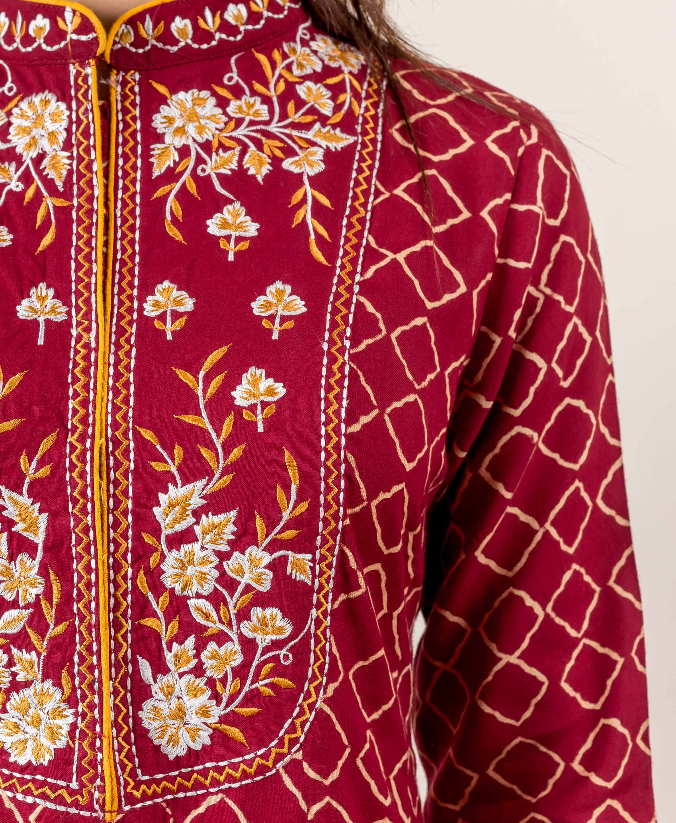 embroidered kurtas online