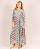 floor length Round Neck Block Printed Indo Western Gowns for Women Online Shopping