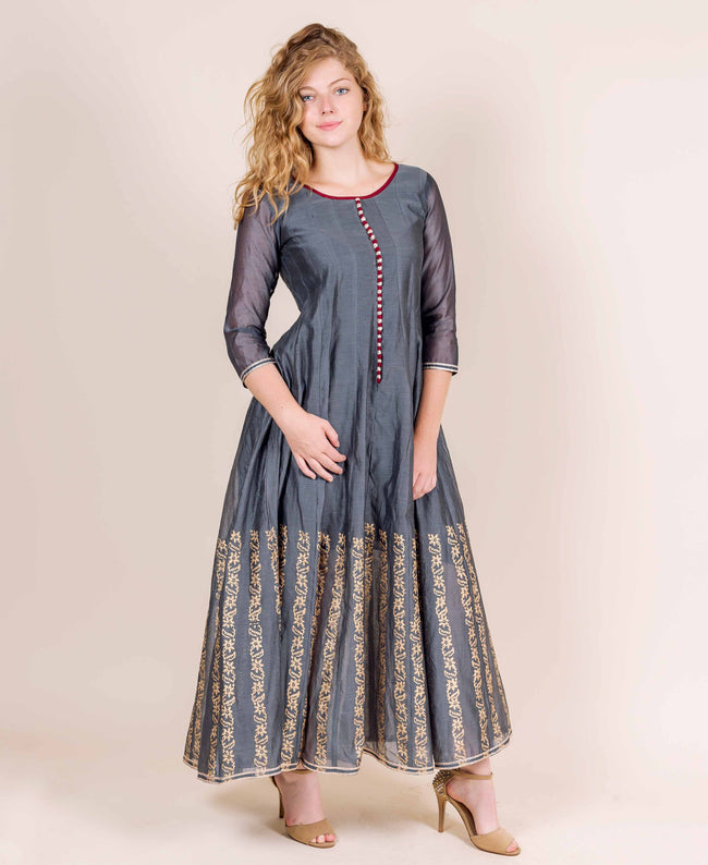 cotton printed designer indo western dress designs online india