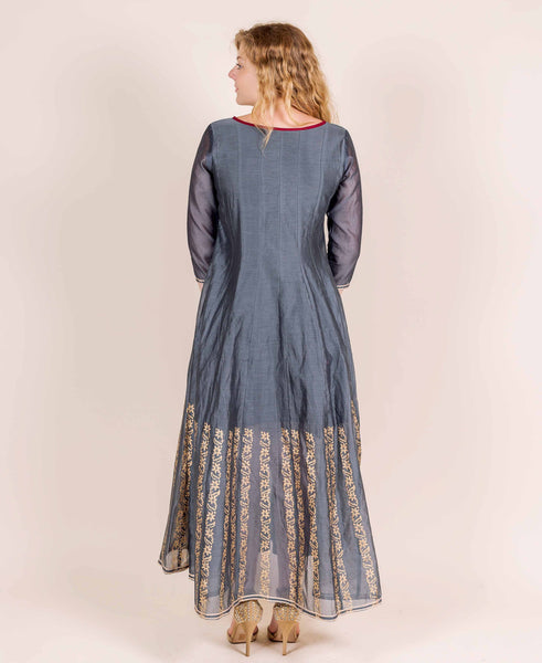 long designer indo western dress for female online shopping