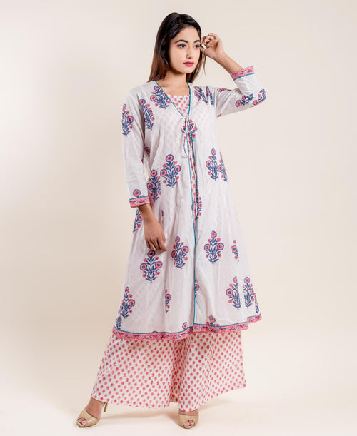 indo western dress with plazo