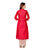 White and Red Indo Western Long Embroidered Kurta with Jacket for Women