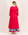 cotton round neck 3-4 sleeves long kurti with long skirts online for girls and ladies