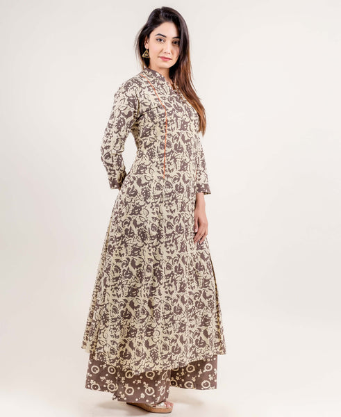 Front Pleated Anarkali Kurti