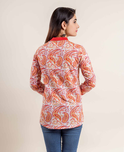 indian short kurti tops