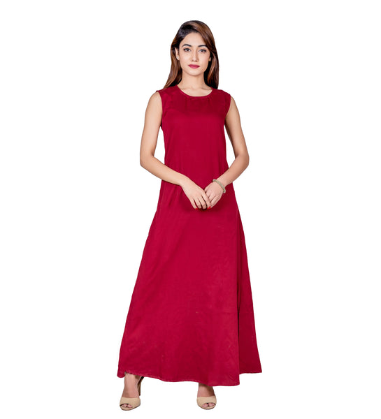Indo Western Long Dress with Asymmetrical Kurti
