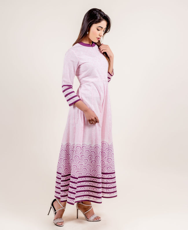 Swirly Indo Western Style Long Designer Anarkali Dresses for women online
