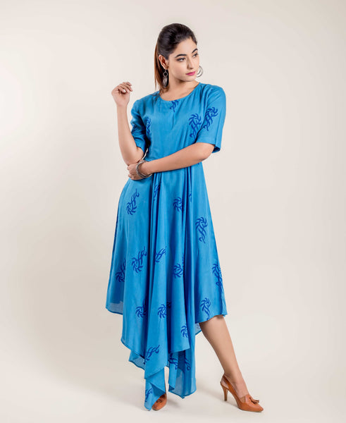long asymmetrical kurtis