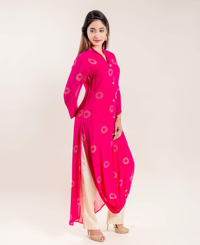 long georgette kurtis