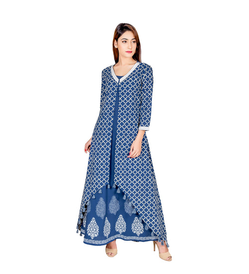 long jacket style kurti design