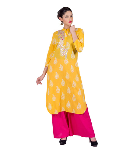 Anarkali Jacket Style Double Layered Indo Western Kurta With Palazzo