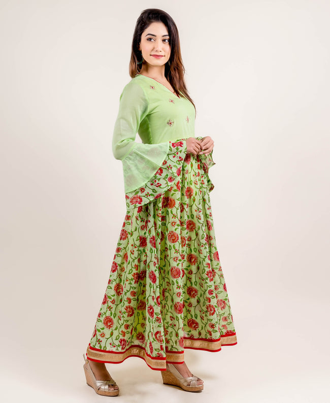 printed anarkali dress online