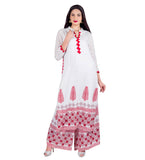 Flat Mandarin Collar Straight Cut Kurti