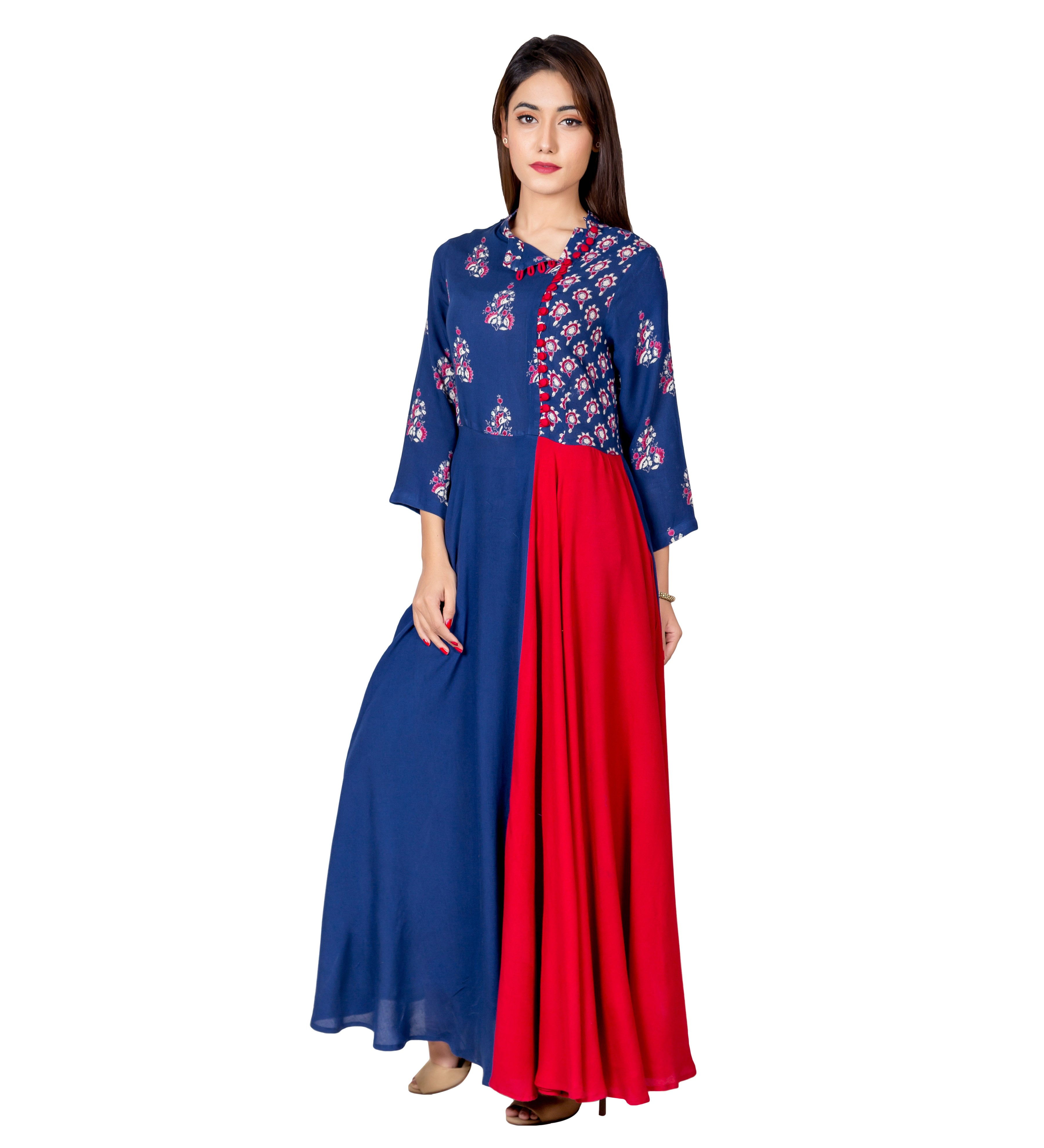 1ef61362ebc Buy Latest Hand Block Printed Indo Western Dress for Womens Online ...