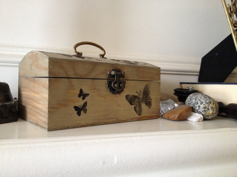 Antique Treasure Chest Kids' Craft with Kid-Safe Weathered Wood Finish