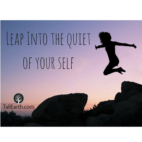 Leap Into the Quiet of Your Self, Tall Earth Image