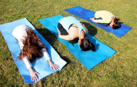 Child's Pose - Valentine's Day Yoga-Love for our Planet Earth, Tall Earth blog