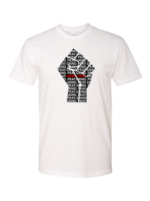 Unity Fist T(White/Black-Red)