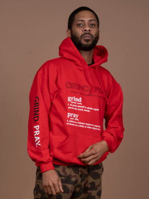 Definition Hoodie (Red/Black-White)