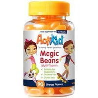 Actikid Magic Beans Multi-Vit Orange 90gummies - 90gummies -