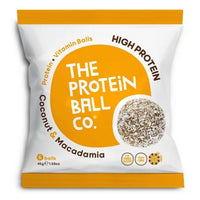 The Protein Ball Co Coconut & Macadamia Balls 45g - 45g -