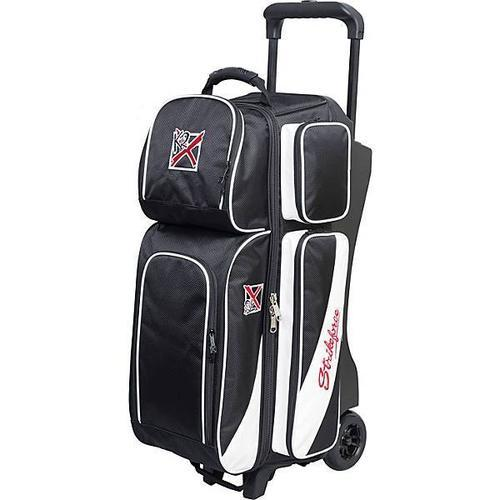 KR Strikeforce Fast Triple Roller Black White Bowling Bag