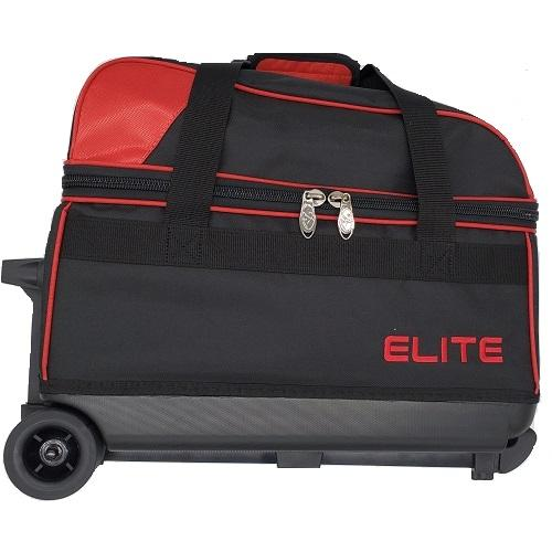 Elite Double Roller Red Bowling Bag
