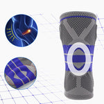 Fitness Running Knee Support Protect Gym Sport Braces Kneepad Elastic Nylon Silicon Padded Compression Knee Pad Sleeve