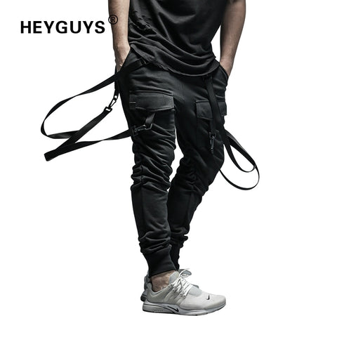 Dry Men's Pants pocket Full Length Men HIPHOP joggers Pants Plus Size Trousers men belt women streetwear