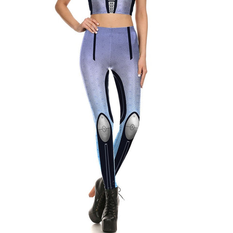 Iron Metal Armour Robot Print Leggings