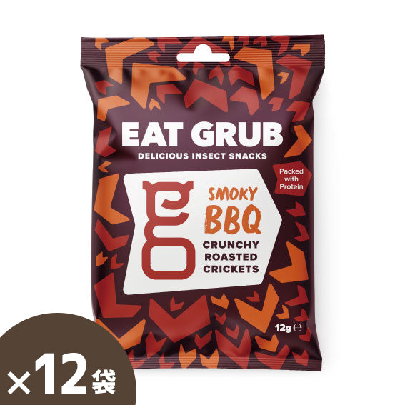 Eat Grub Cranky Roasted Cricket BBQ - 12 bags per case