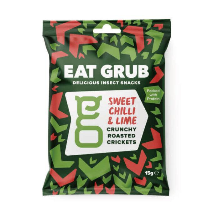Eat Grub Cranky Roasted Cricket Sweet Chili & Lime - 12 bags per case