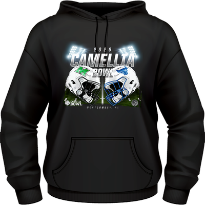 BUFFALO BULLS VS. MARSHALL THUNDERING HERD 2020 CAMELLIA BOWL GAME HOODIE