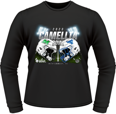 BUFFALO BULLS VS. MARSHALL THUNDERING HERD 2020 CAMELLIA BOWL GAME LONG SLEEVE