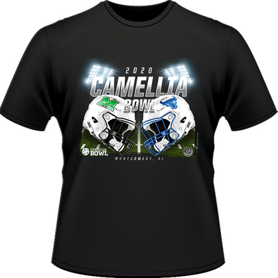 BUFFALO BULLS VS. MARSHALL THUNDERING HERD 2020 CAMELLIA BOWL GAME TEE