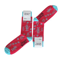 Load image into Gallery viewer, Red Christmas Socks - Funny Socks For Men