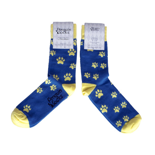 Dog Footprints Socks - Funny Socks For Women