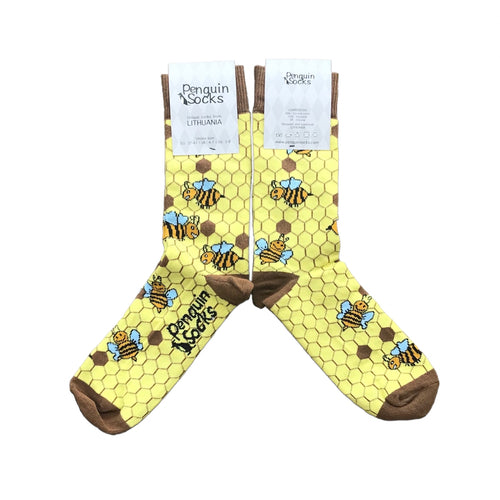 Bee Socks - Funny Yellow Socks For Women by Penguin socks