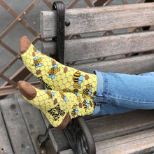 Load image into Gallery viewer, Bee Socks - Funny Yellow Socks For Women by Penguin socks - Socks in the wild