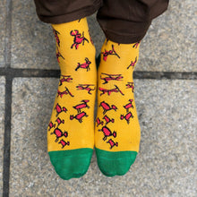 Load image into Gallery viewer, Stone Age Socks — Yellow Funny Socks For Men