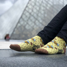 Load image into Gallery viewer, Bee Socks - Funny Yellow Socks For Women by Penguin socks - Luvr Paris