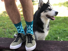 Load image into Gallery viewer, Chess Socks - Blue Funny Socks For Men and the husky