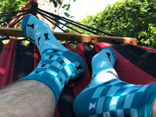 Load image into Gallery viewer, Chess Socks - Blue Funny Socks For Men summer