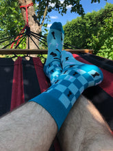 Load image into Gallery viewer, Chess Socks - Blue Funny Socks For Men